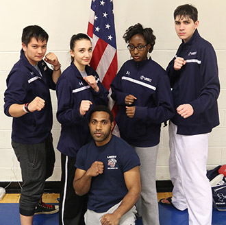 Place winners for Liberty University's Tae Kwon Do at the national championships.
