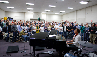 Michael W. Smith meets with LU students
