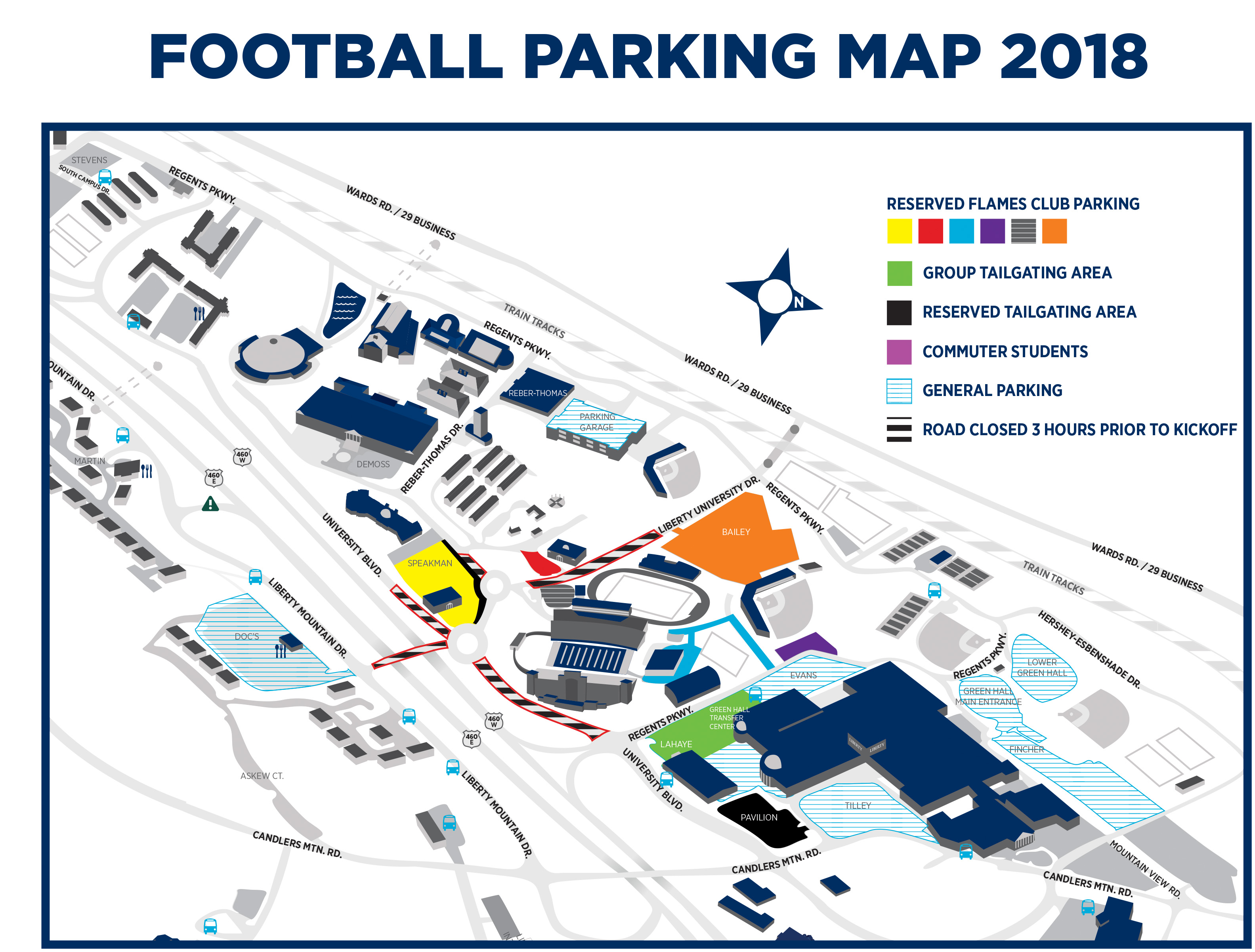 Odu Campus Map Pdf.Football Parking Tailgating Liberty Flames