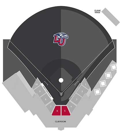 Baseball Premium Seating Map
