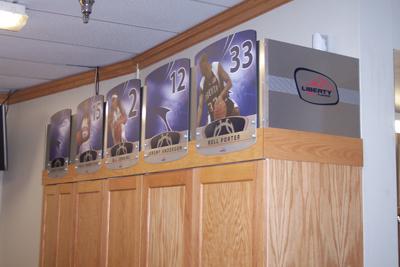 Inside Mens Basketball Locker Room