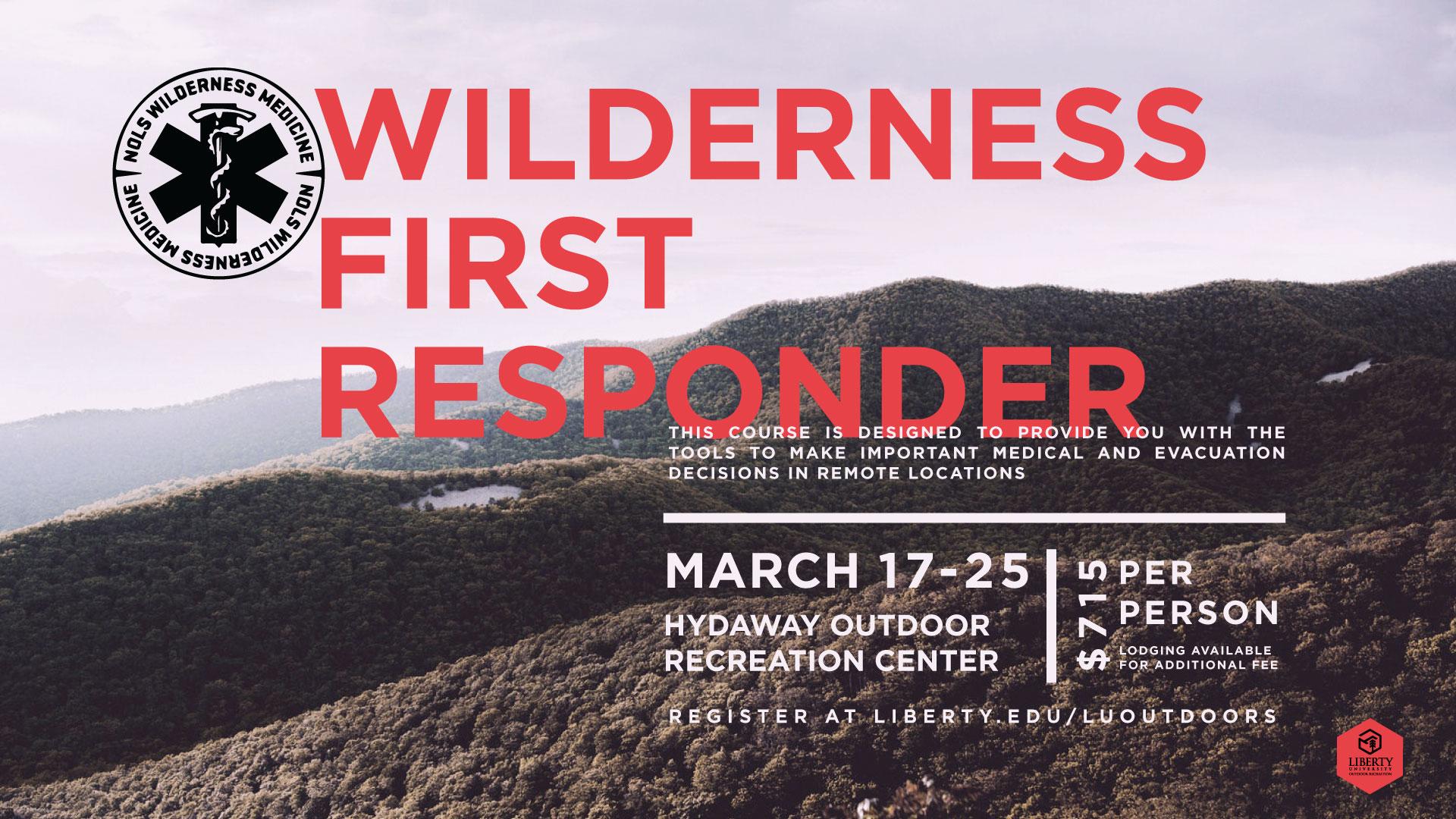 Outdoor Recreation Wilderness First Responder
