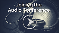 Joining the audio conference tutorial