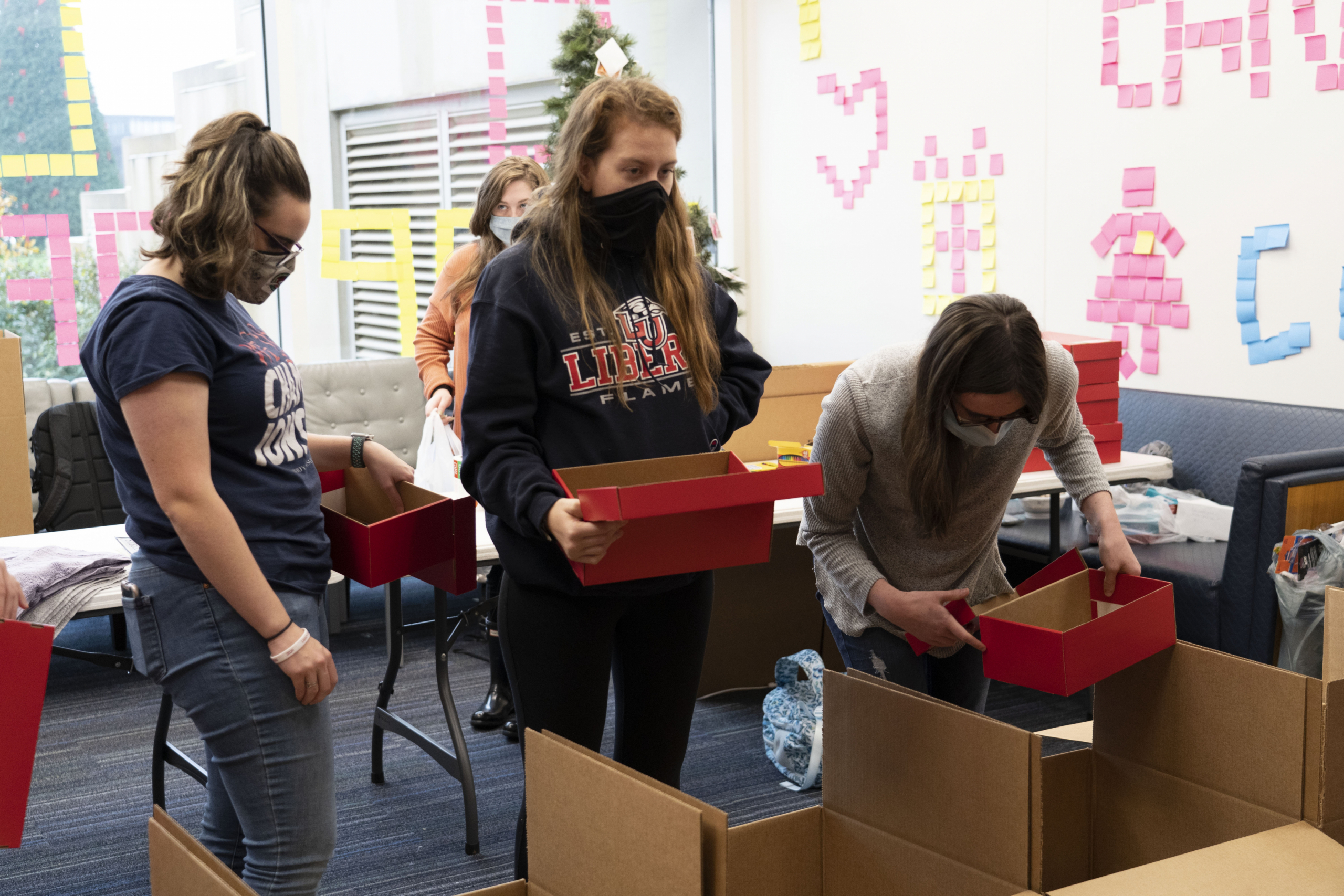 Liberty students continue annual tradition of packing Operation Christmas Child shoeboxes
