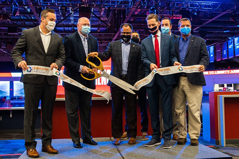 Ribbon-cutting ceremony unveils spectacular new Liberty Arena