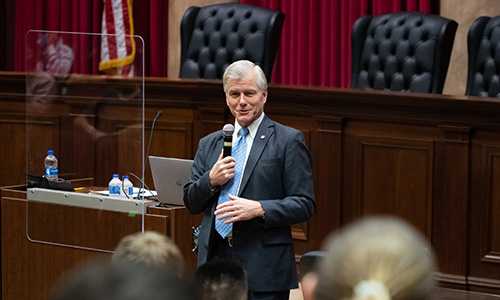Helms School of Government hosts former Virginia Governor, Israeli diplomat to inform, inspire students