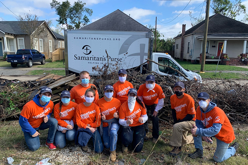 LU Send Now disaster relief team helps Louisiana community rebuild from hurricanes