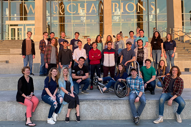 Mechanical engineers fine-tune human-powered vehicle for international contest