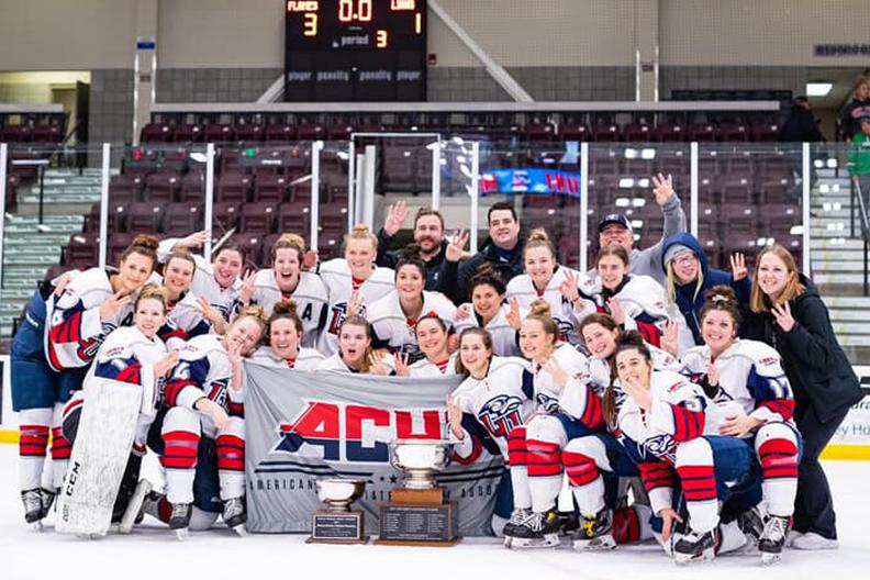 Women's hockey team wins third-straight national title