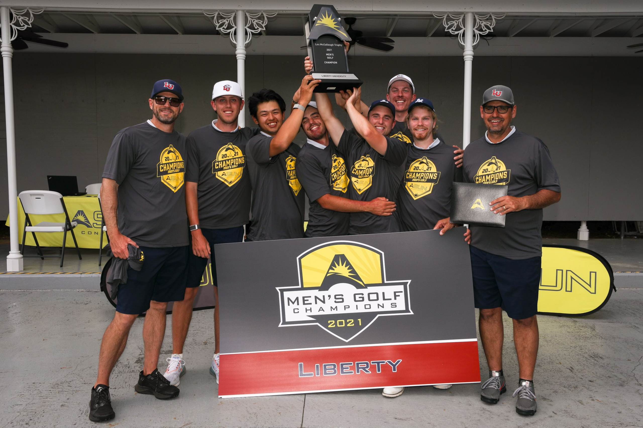 Golf team claims Liberty's first ASUN championship title