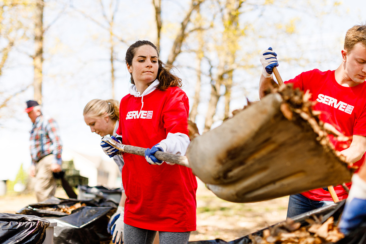Liberty gives to Lynchburg community during annual two-day service blitz