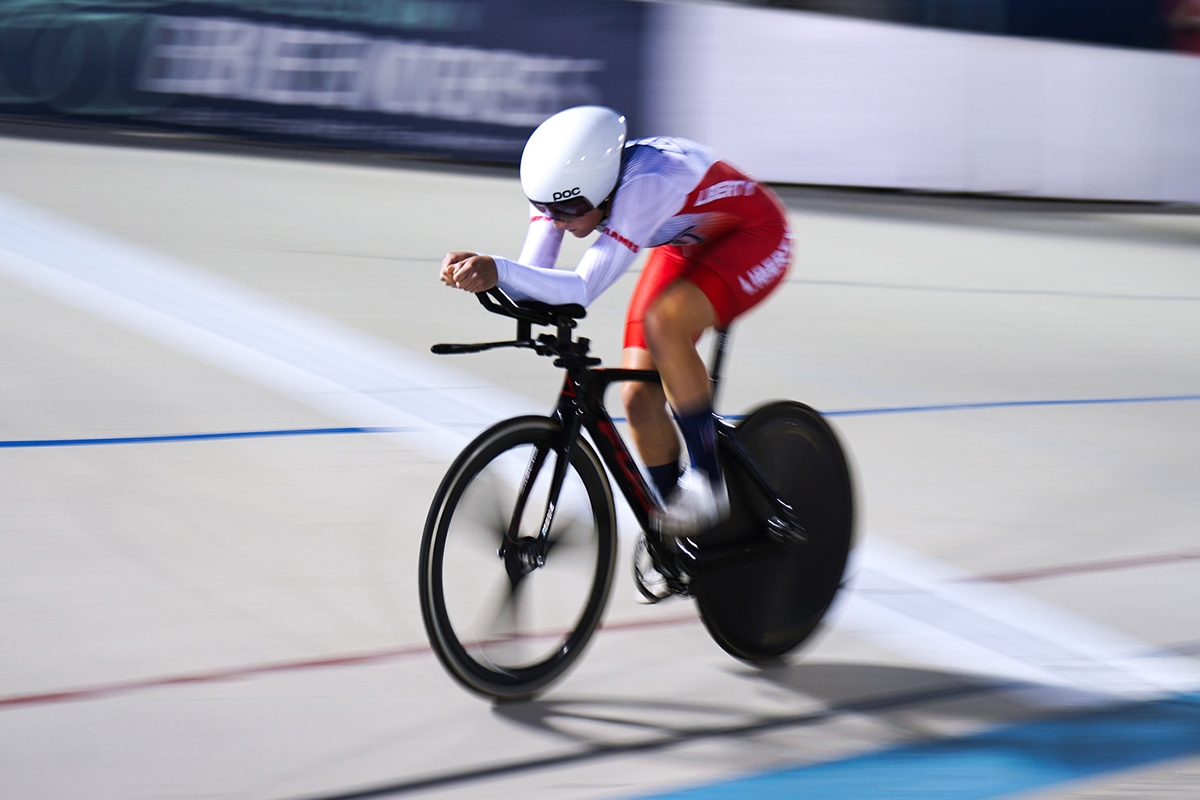 Liberty cyclist rides to silver, gold medals at track nationals