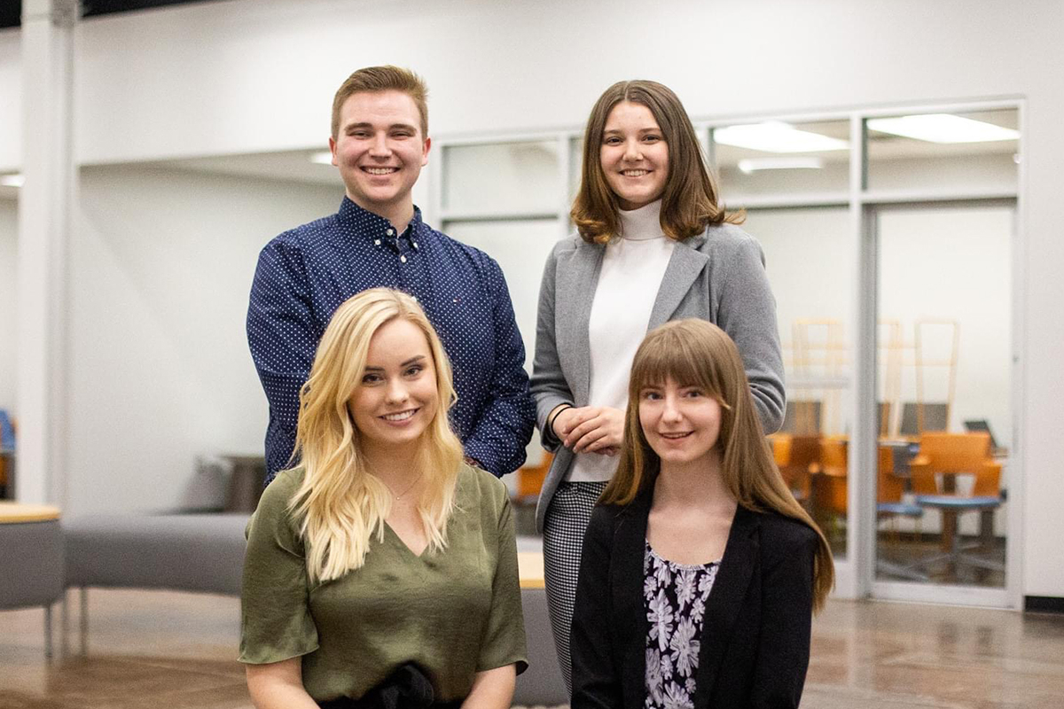 Liberty advertising team finishes runner-up in national competition