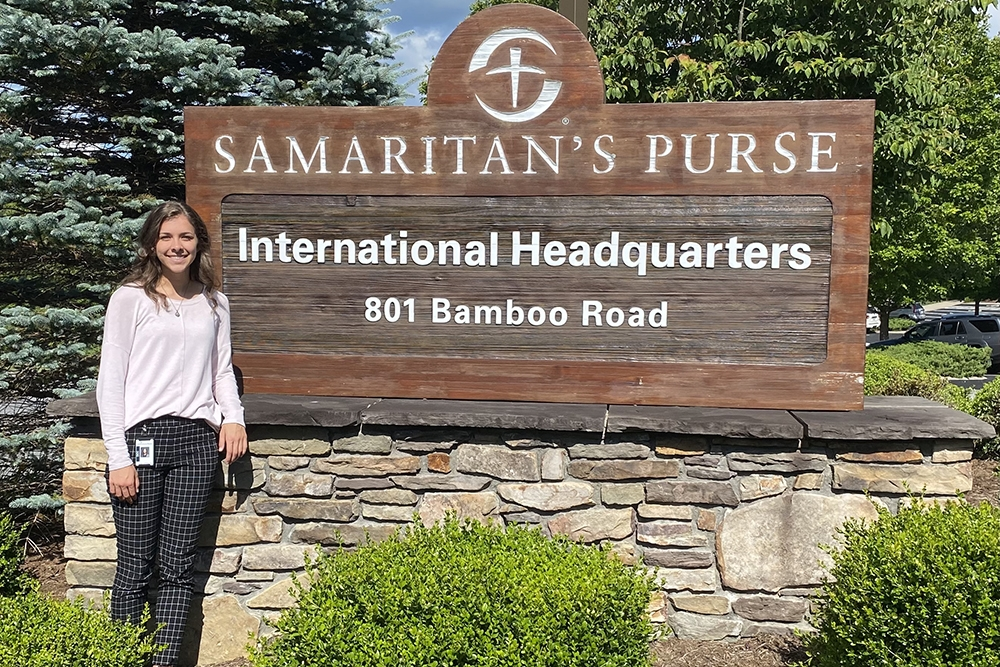 Business students in Liberty's new humanitarian aid program complete internships with disaster relief groups