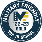 Military Friendly School Top 10 Gold Badge