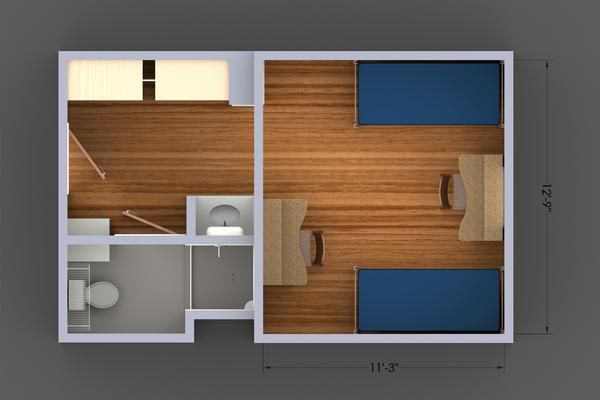 4 Person Dorm Room Layout
