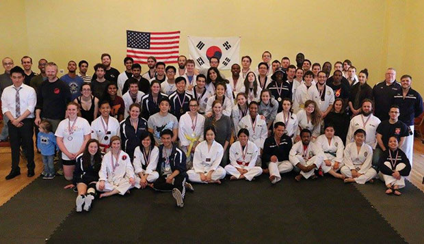 Competitors from all schools represented at the ACAT tournament hosted by Virginia Tech pose for a group photo. test test test test