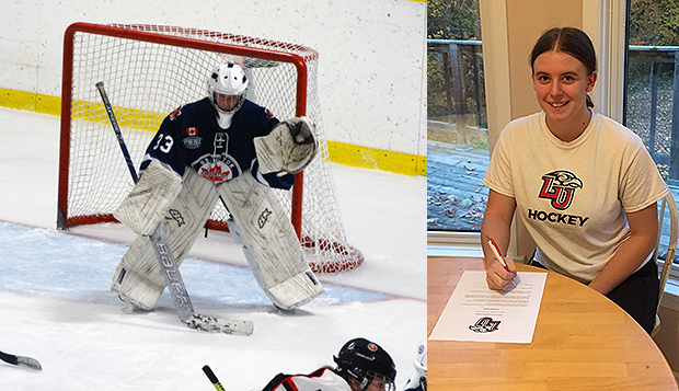 Amanda Storey, a goalie for the Brampton Canadettes, signs to become the Lady Flames' fourth Fall 2020 recruit. test test test test