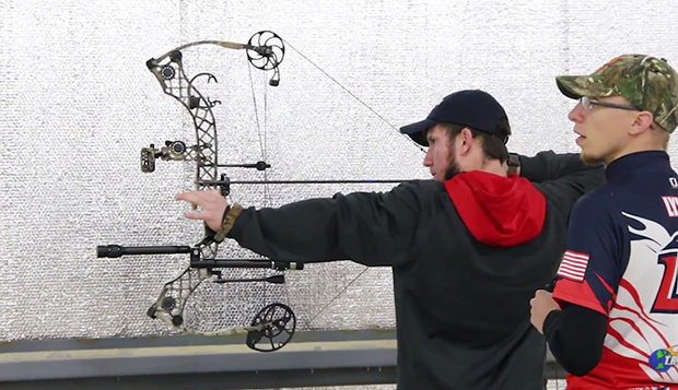Defending indoor national champion Louis Boyd (left) and graduate Jason Lynch are among the Flames' top archers.  test test test test