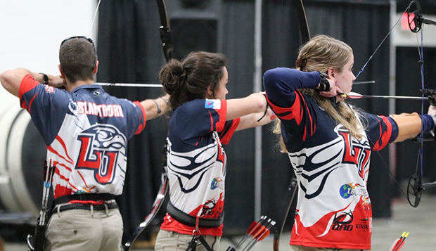 Liberty sent six men's and eight women's archers to Fishersville, Va., where 11 placed in the top five and they all shot personal best scores. (Photos courtesy of Amy Skelton) test test test test
