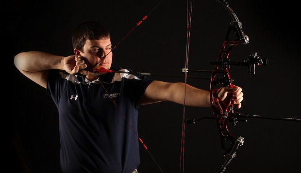 Flames junior Ian Rigney, who won the past two 3-D United States Intercollegiate Archery Championships in Columbia, Mo., will challenge for his third crown on Sunday. test test test test