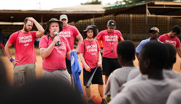 Club Sports Ministry Director Brian Davidson took a team of 12 Sport Management students to Ghana over Spring Break in 2017. (Photos submitted by Ja Hyeon Koo, pictured below) test test test test