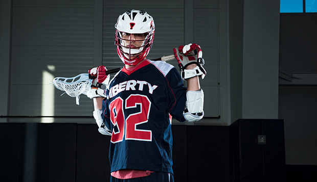 Sophomore attack Caleb Britton is coming off a phenomenal rookie season when he scored 50 goals and distributed 21 assists. (Photo by Leah Seavers) test test test test