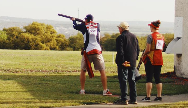 Junior Casey Williams placed 21st in International Skeet and 28th in Sporting Clays for the Flames. (Submitted photo) test test test test
