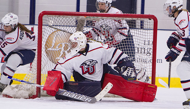 Chantal Lischynski went 10-1 for the Lady Flames last season, posting an ACHA Division I-best 0.99 goals-against average with five shutouts. test test test test