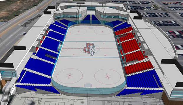 The expanded arena will double the seating of the current facility. test test test test