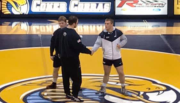 Flames wrestlers rally too late in dual match defeat at Coker test test test test
