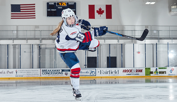 Senior defenseman Dana McLeod returns as an alternate captain for the Lady Flames' DI women's team this fall. test test test test