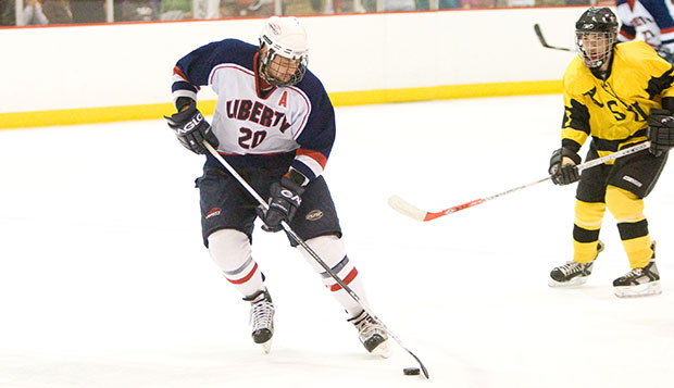 As a sophomore defenseman, Dave Semenyna led Liberty's ACHA DI men's hockey team to the Final Four of the 2007-08 National Championships in Illinois. test test test test