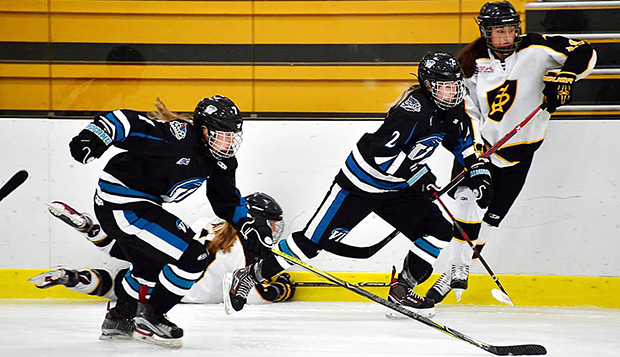 Yannick Truter, left, is an two-way player who showcases speed and grit on the ice for the Vancouver Island Seals. test test test test