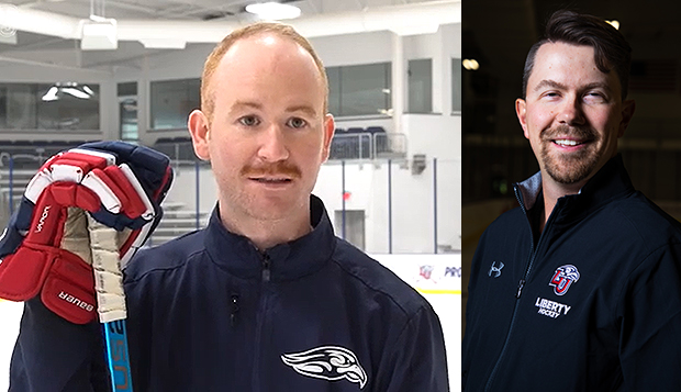 Flames' Division II men's hockey Head Coach Ben Hughes and DIII first-year Head Coach Josh Graham will see their teams in action this weekend at the LIC. test test test test