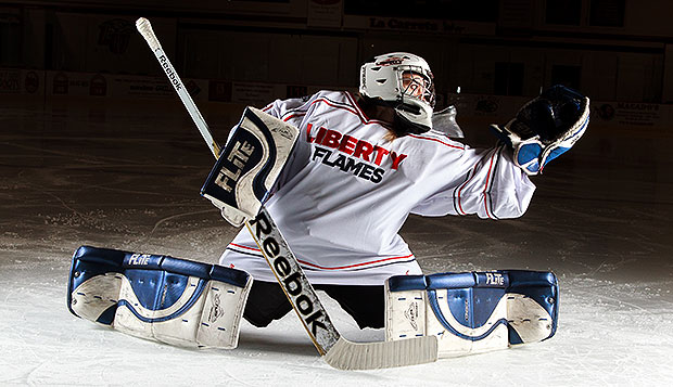 Liberty senior goalie Leanne Niemi made 49 saves in Saturday's 4-3 overtime loss at Virginia. test test test test
