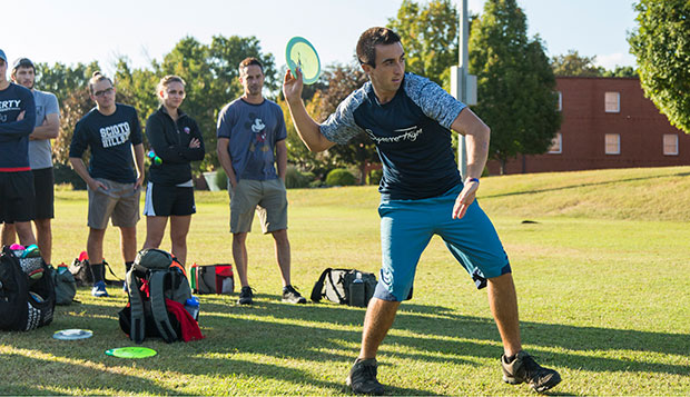 Paul McBeth, the No. 1-ranked player in the Professional Disc Golf Association and four-time reigning World Championship winner helped lead Tuesday's clinic with Nate Sexton, who's ranked No. 14. test test test test
