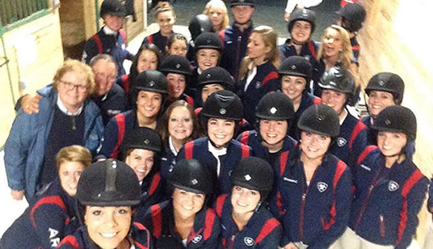 Lady Flames earn two blue ribbons at first Hunt Seat show test test test test