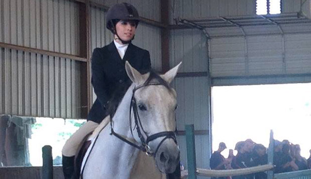 Lady Flames senior Morgan Murphy placed sixth out of 10 riders in the Beginner walk-trot division, Saturday at Goucher College. test test test test