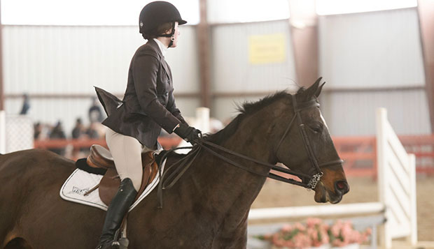 Liberty freshman Elizabeth Chenelle placed first in intermediate equitation over fences at Friday's show hosted by Bridgewater College and second in intermediate equitation on the flat Saturday at Hollins University.  test test test test