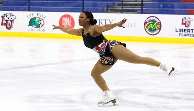 Lady Flames junior Fantasia Remonvil finished fourth in the Novice short program and free skate before helping her teammates to a gold medal in Intermediate Team Maneuvers. test test test test