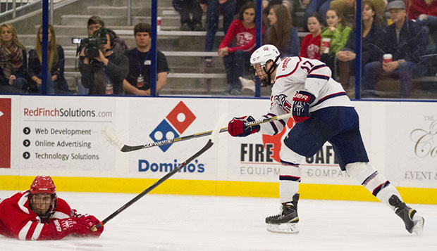 Grant Garvin scored the Flames' final goal with 53 seconds remaining in regulation, moving into a tie for Liberty's scoring lead with fellow junior forward Robert Ward. test test test test
