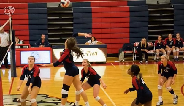 Hannah Heller played outside hitter for Liberty Christian Academy's indoor volleyball team over the past four years. test test test test