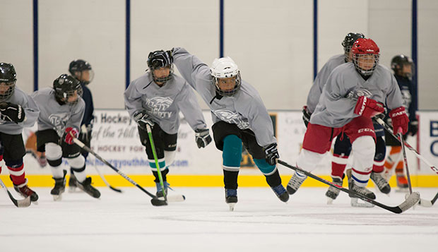 More than 80 players ages 7 to 11 participated in last week's first overnight hockey camp at the LaHaye Ice Center before more than 100 players ages 12 to 17 turned out this week. test test test test