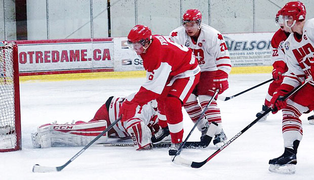 Jacob Fricks totaled six goals and 23 assists as a defenseman with the Langley Knights in 2014-15 and has three goals and eight assists in 27 games with the Red Wings this season.  test test test test