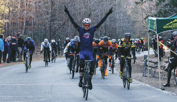 Sophomore Jake King, an online student from near Charlottesville, won his first race in a Liberty uniform, Saturday at the Tidewater Winter Classic in Williamsburg, Va.  test test test test