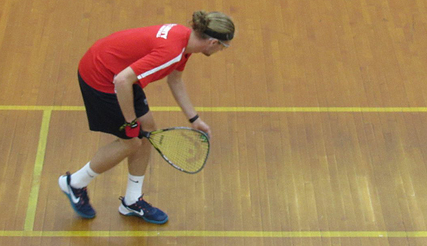 Flames senior Jesse Gauldin prepares to serve in a recent tournament. (Photos courtesy of Pam Passburg) test test test test