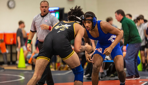 John Stuart went 41-4 to guide the Norview Pilots to a 25-2 dual meet season record this winter. (Photos courtesy of Ron Beard) test test test test