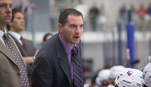 Kirk Handy is in his 16th season at the helm of Liberty's hockey team, and is the face of the program as much as hockey is the engine of the Club Sports department.  test test test test