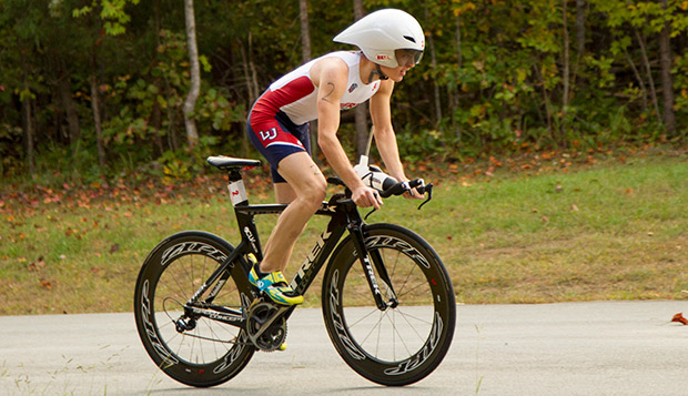 Liberty senior Joseph Anderson, one of the top competitors in the Mid-Atlantic Collegiate Triathlon Conference, will shift gears next fall to compete in cycling as well as triathlon. test test test test